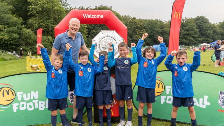 Wright at the McDonald's Fun Football Festival at Camp Hill Woolton