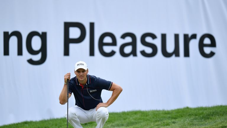 Kaymer carded eight birdies in his second-round 66
