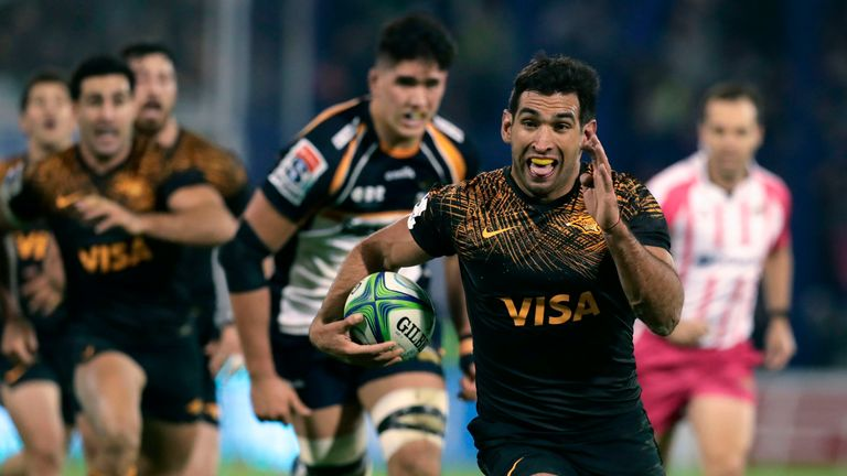 Matias Orlando scored two tries in the Jaguares' semi-final win over the Brumbies