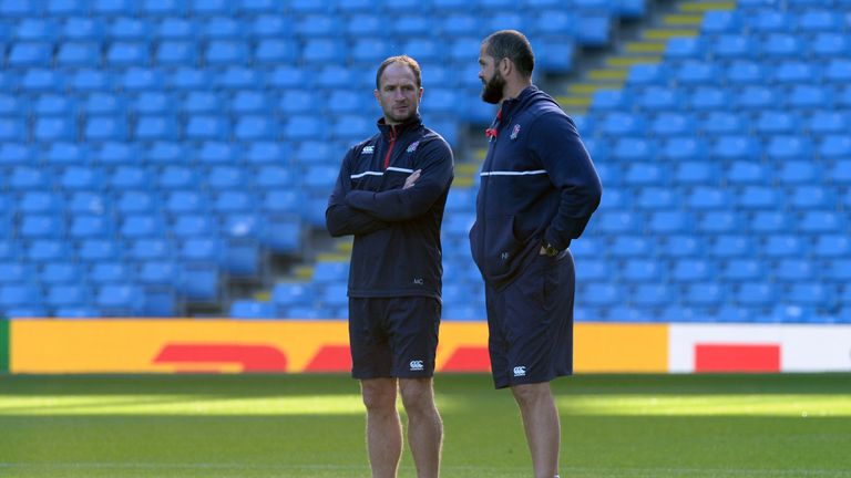 Catt (left) and Andy Farrell previously worked together with England