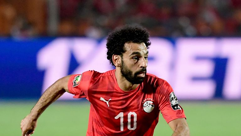 Mohamed Salah scored Egypt's second goal against DR Congo