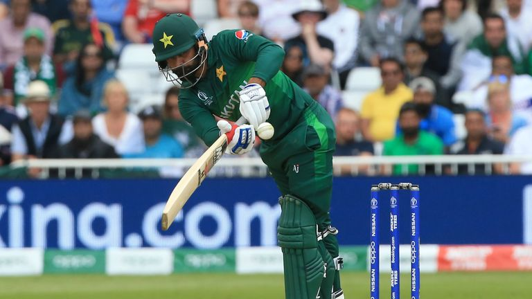 Mohammad Hafeez went on to score 84 after being dropped on 14 by Jason Roy