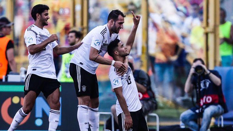 Nadiem Amiri gave Germany the lead in the semi-final