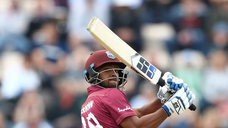 Nicholas Pooran hit a maiden ODI fifty for the West Indies against England
