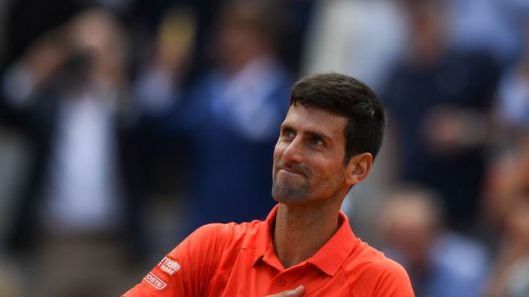 Novak Djokovic is yet to lose a set at Roland Garros this year