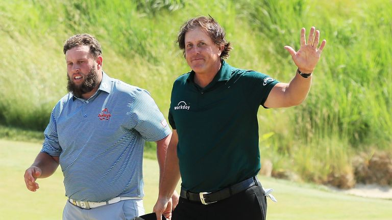 Phil Mickelson caused a stir by hitting a moving ball in 2018