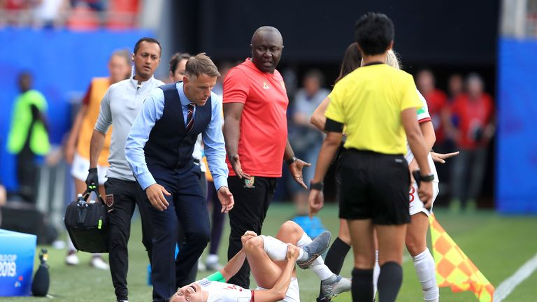 Phil Neville was left furious by the behaviour of Cameroon's players during England's 3-0 World Cup win