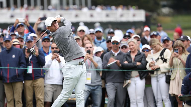 McIlroy was three under for the second day before bad mistakes at 13 and 14