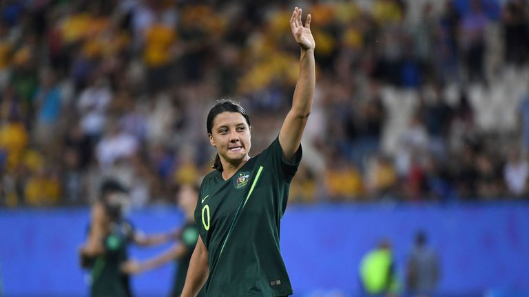 Sam Kerr scored four goals in Australia's 4-1 win over Jamaica