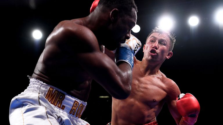 GGG stopped Steve Rolls at Madison Square Garden in June