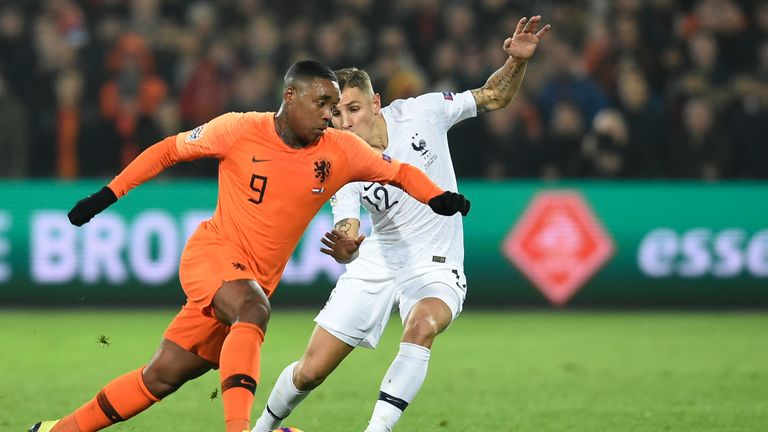 Bergwijn made his international debut for Netherlands in October