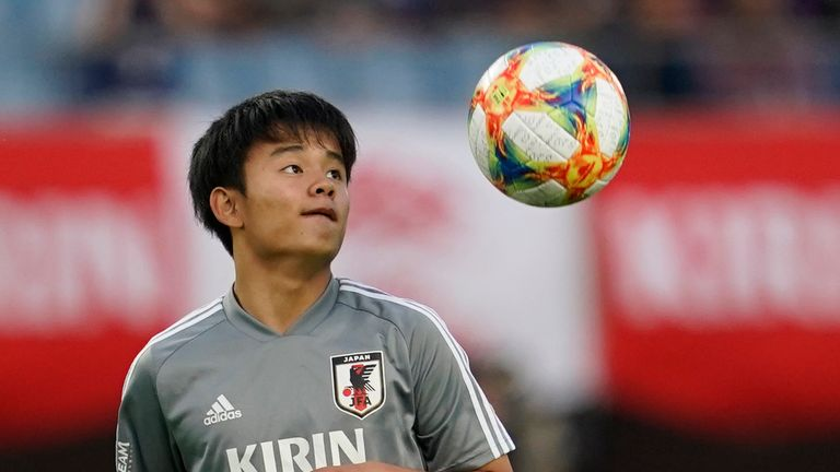 Takefusa Kubo is with the Japan team at the Copa America