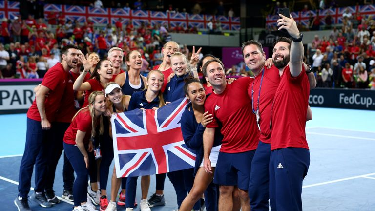 The British team will be hoping for more Billie Jean King Cup - former Fed Cup - glory later this month