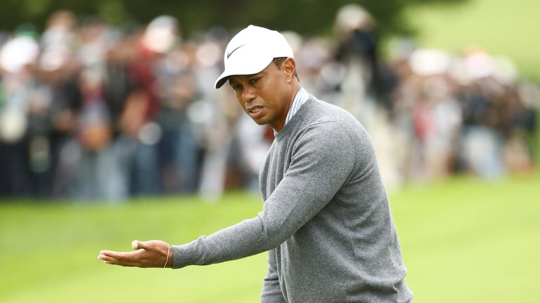 Woods made five birdies but could not keep the mistakes off his card