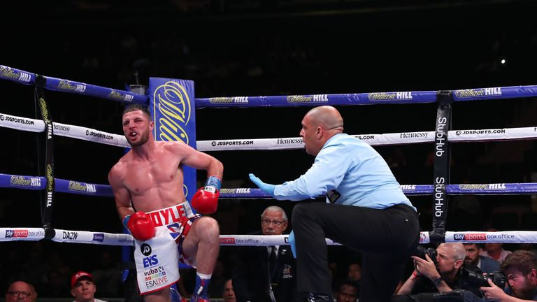 Coyle was dropped by a body shot in the fourth against Algieri