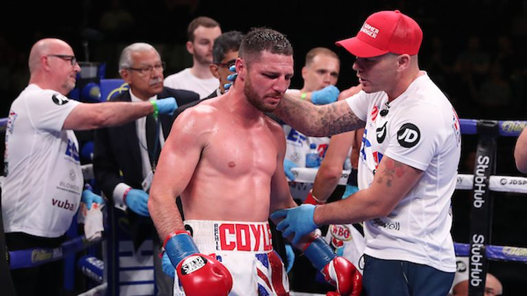 Coyle pulled out after eight rounds on American debut