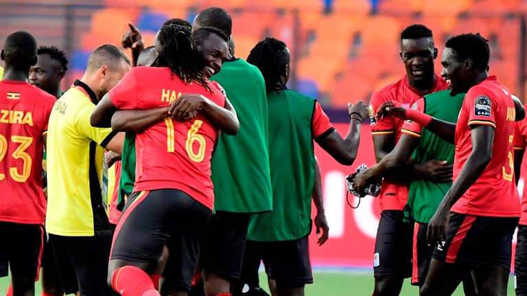 Uganda won at the Africa Cup of Nations finals for the first time in more than 40 years