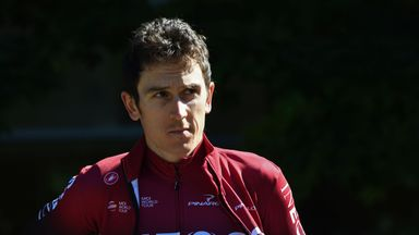 Geraint Thomas fell into a barrier with around two kilometres of the opening stage remaining