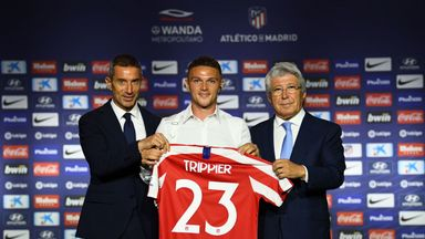 Kieran Trippier was unveiled as an Atletico Madrid player on Thursday