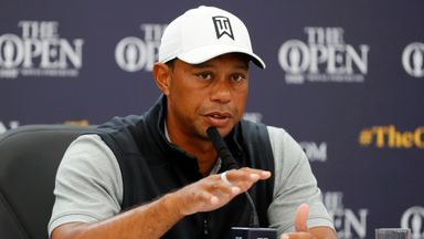 Tiger Woods has not played since the US Open last month