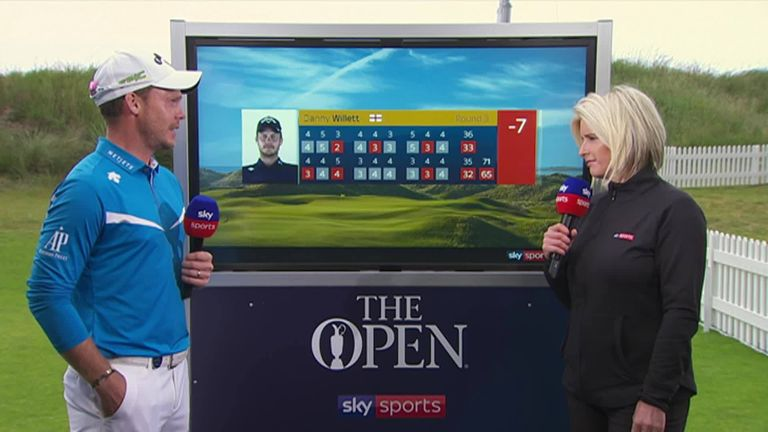 Danny Willett shares his thoughts on his 65 in the third round