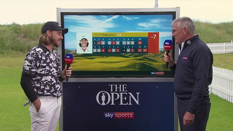 Tommy Fleetwood says he is extremely pleased to be in the position he is after his second round but admits day two was slightly tougher