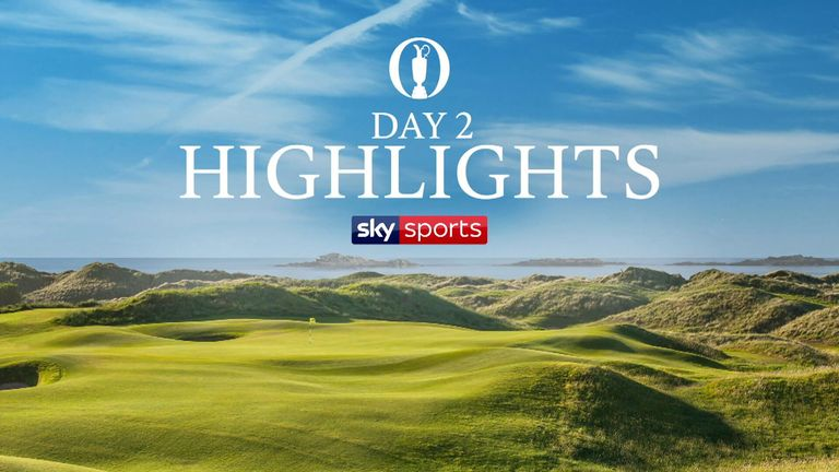 Highlights from the second round of The 148th Open Championship from Royal Portrush