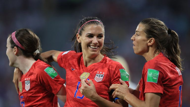 Alex Morgan scored the winning goal for the USA