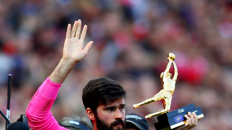 Alisson won the Premier League Golden Glove for 2018/19