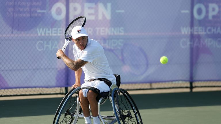 Lapthorne was on the verge of an exit at the semi-final stage (picture: LTA)