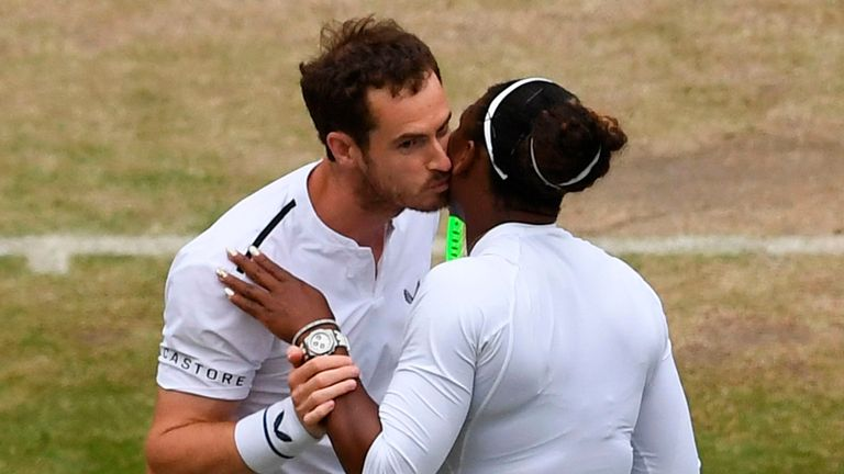 Murray (left) and Williams celebrate their victory