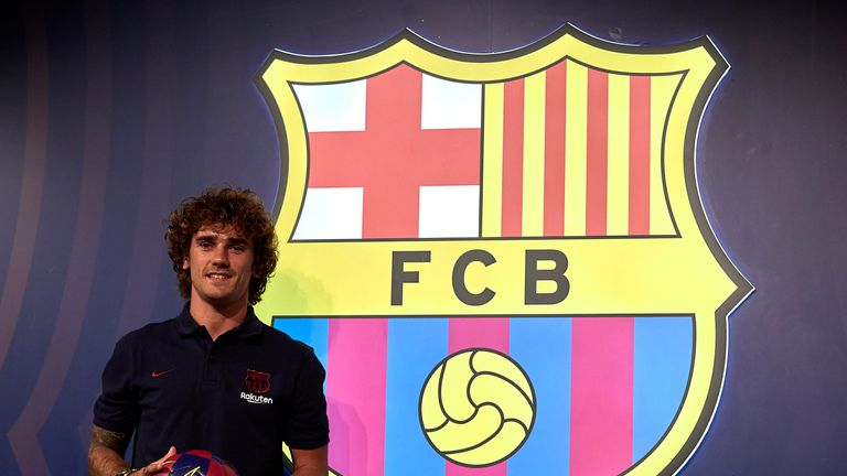 Antoine Griezmann has been unveiled as a Barcelona player