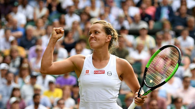 Strycova celebrates the biggest win of her career
