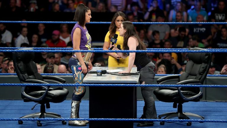Bayley and Nikki Cross exchanged only verbal shots as they signed their Extreme Rules contract