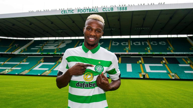 Celtic's latest signing Boli Bolingoli-Mbombo is unveiled at Parkhead