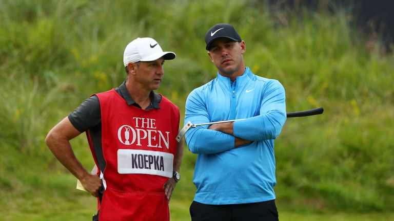 Brooks Koepka was not happy with JB Holmes' pace of play on Sunday