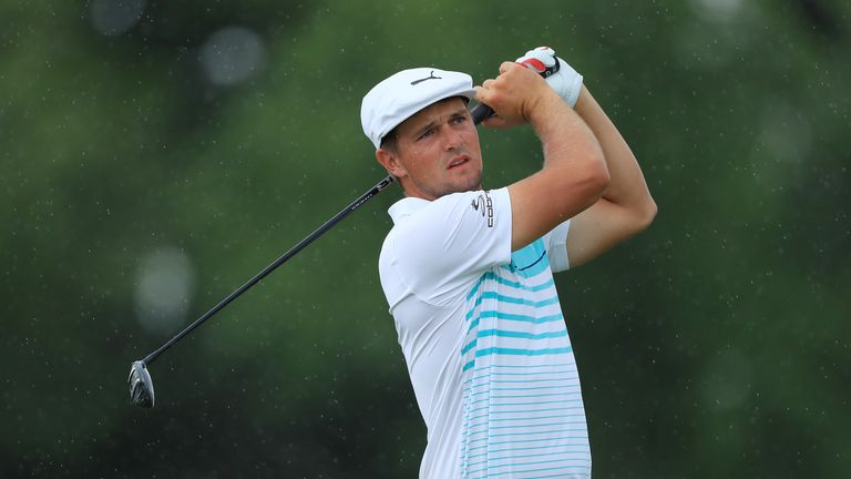 Bryson DeChambeau was criticised for the pace of his play at the Northern Trust