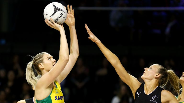 Captain Caitlin Bassett is a two-time Netball World Cup winner