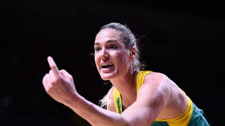 Caitlin Bassett of the Australian Diamonds
