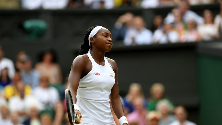 Gauff struggled to match the heights of her wins against Venus Williams and Magdalena Rybarikova in the first set