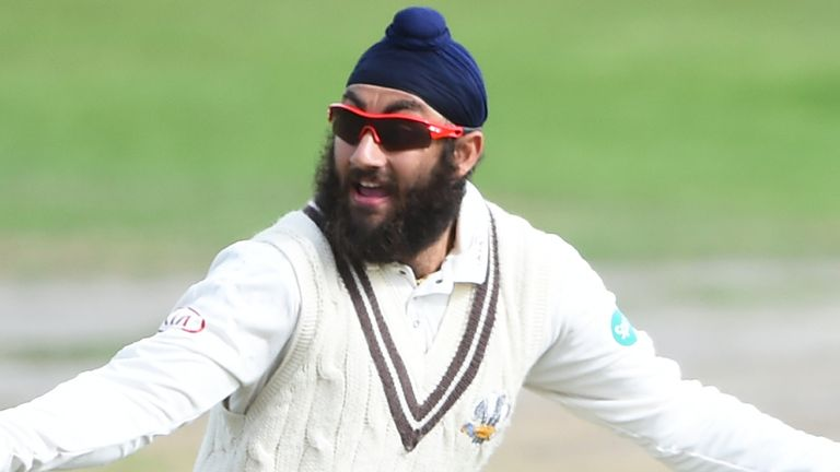 Amar Virdi had match figures of 14-139 for Surrey on a dry track at Trent Bridge
