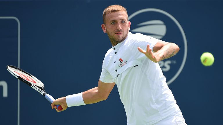 Dan Evans will line up with Andy Murray in the GB team at the Davis Cup