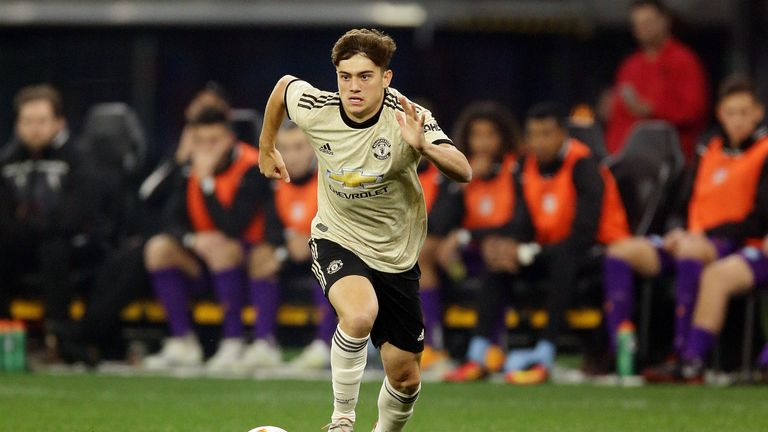 Daniel James impressed in his Manchester United debut against Perth Glory
