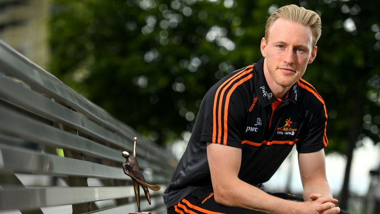 The PwC GAA/GPA Player of the Month for June, Diarmuid O'Keeffe of Wexford was at PwC offices in Dublin to pick up his award