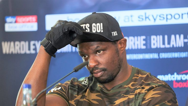 Dillian Whyte reacted angrily to Okolie's comments