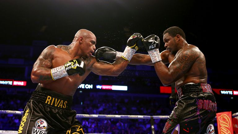 Rivas' only defeat came against Dillian Whyte