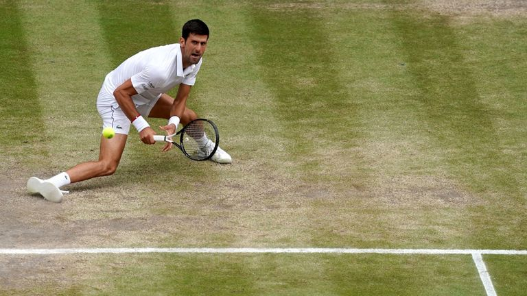 Djokovic held firm on a number of occasions in a pulsating battle