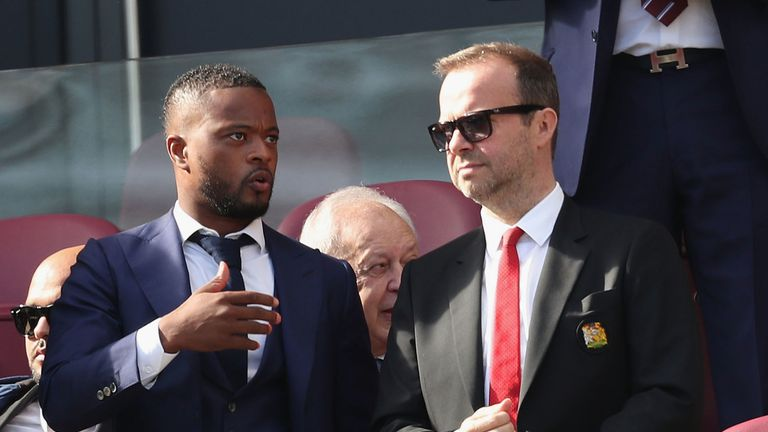 Patrice Evra reveals row with Manchester United chief Woodward