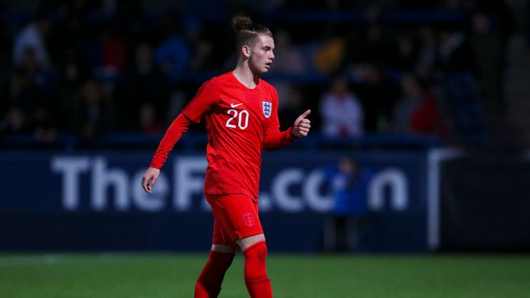 Elliott has already represented England at U17 level