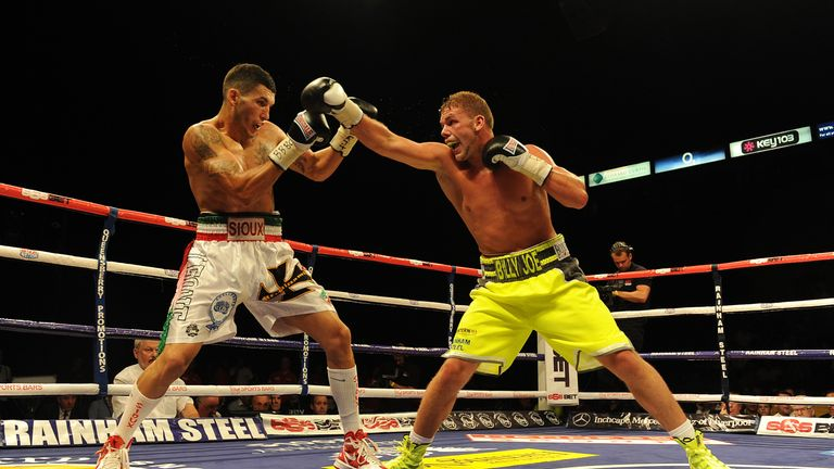Emanuel Blandamura travelled to the UK to fight Billy Joe Saunders in 2014